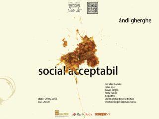 Social Acceptabil, un spectacol-experiment la Studio Act