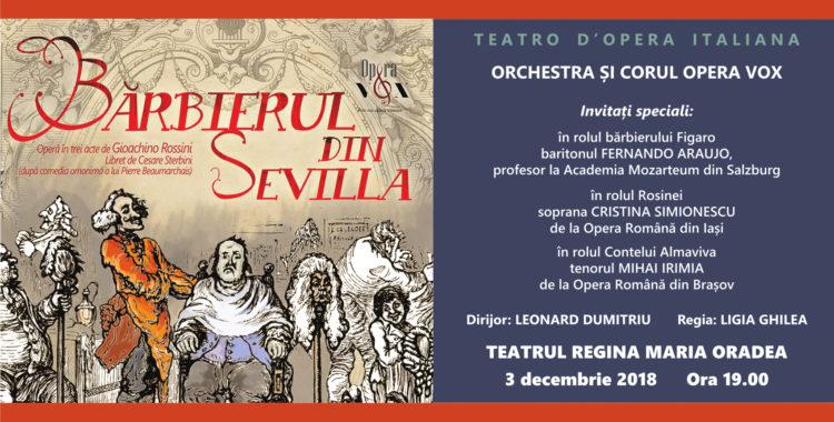 Bărbierul din Sevilla pe șcena Teatrului din Oradea